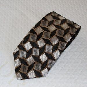Bachrach Classic Men's Tie - Black/Silver